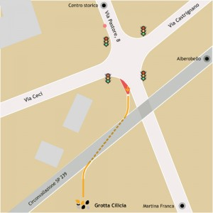 Mappa Stradale per Grotta Cilicia